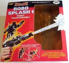 VINTAGE TOY GIOCATTOLO ZYBOTS ROBOT SPLASH GUN TRASFORMABILI  GIG 1984 REMCO