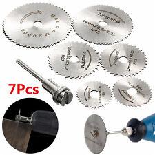 7pcs set Circular Wood Cutting Saw Blade disc mandrel Stainless steel 22mm  50mm
