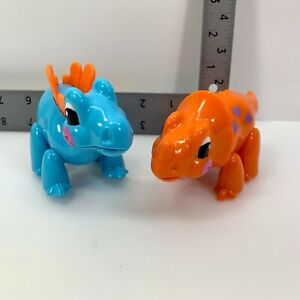 Lot of 2 TOLO First Friends Stegosaurus Triceratops Toys