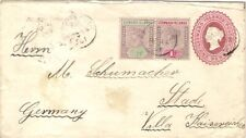 1901 Leeward Islands 1d Reg Postal Stationery Env PORTSMOUTH Dominica to Germany