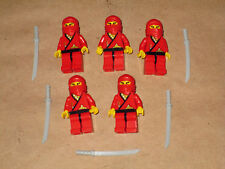 Lego 5 Minifig Original Red Ninja Army Builder Fantasy Castle