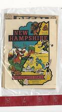Vintage IMPKO New Hampshire the Granite State travel water decal FREE SHIPPING