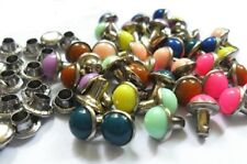 "Pkg of 20 ROUND COLORFUL Metal Rivet Studs 1/4"" (6mm) Leather Crafts (1127)"