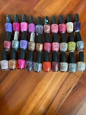 Opi Nail Polish Lot of 30 different colors, Collection of New & Used Too Coat
