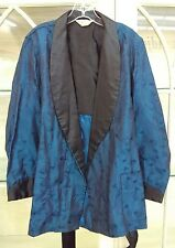 38e8454fb4b8d Vtg 1960's 70's Sea Island Metallic Blue Robe Beach Surfer Cabana Lounge  Robe
