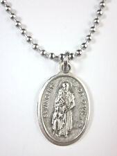 "St Vincent de Paul Medal Pendant Necklace 24"" Ball Chain Gift Box & Prayer Card"
