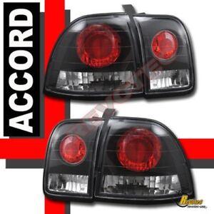 Black Tail Lights Set For 96 97 Honda Accord EX LX DX SE Coupe & Sedan