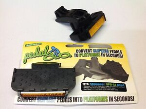 Clean Motion Pedal Dabs - Bike Pedal Clipless Adapter for Bicycle - Black
