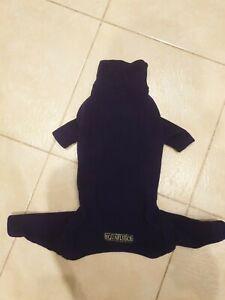 """EQUAFLEECE Dark Purple 22"""" Slim Fleece Dog Suit"""