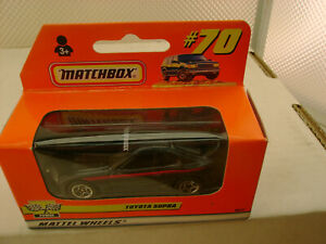 1999 MATCHBOX SUPERFAST #70 BLACK TOYOTA SUPRA NEW IN BOX