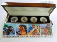 2014 LEGENDARY HORSES 4 Coin Silver Proof Set Silver Proof Coins