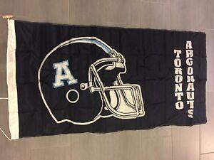 Vintage CFL Toronto Argonauts Argos Large Flag 3' x 6'