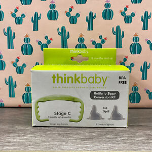 Thinkbaby Bottle to Sippy Conversion Kit Stage C, 9-24 Months - Green New