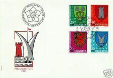 SWITZERLAND, PRO JUVENTUTE 1981, FDC, SCOTT # B484-B487, MICHEL # 1210-1213