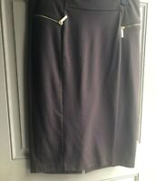 Michael Kors Women's Skirt Pre-Owned Knee Length Brown Size 10 Knit