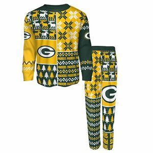 Outerstuff NFL Kids (4-7) Green Bay Packers Ugly Sweater and Pants Sleep Set