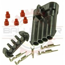 For GM Delphi / Packard 4 way Metripack 150 Female Connector Assembly Kit, Black