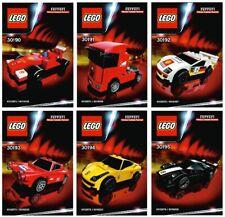Lego Shell 6 Cars Ferrari F1 F40 GT 458 Scuderia NEW Sealed Polybag 75889 10264