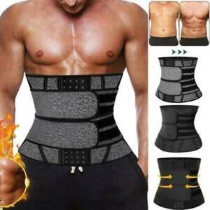 UK Sweat Belt Neoprene Hook Body Shaper Men Women Waist Training Tummy Corset