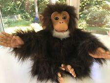 """FurReal Friends Cuddle Chimp Plush Monkey Animated Toy 11"""" 2008 Hasbro Tested"""