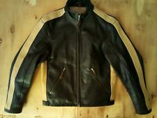 Hein Gericke Men's Motorcycle Leather Cafe Racer Jacket Size S