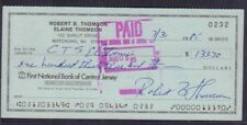 Robert B. Thomson Signed Check w/COA 122717DBT