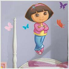 DORA THE EXPLORER wall stickers MURAL 5 big decals 40 inches tall butterflies