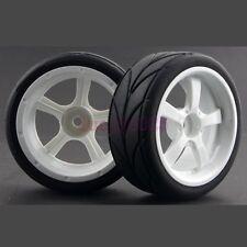 SET RC 1:10 On Road Car Flat Foam lines Rubber Tyres Tires & Wheel Rim 1020-6081