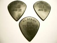 3 Dunlop XL Series Jazz III Nylon Picks Plektren 1,38 mm Plektrum schwarz