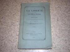 1868.de la liberté et des lois de la nature / Desdouits.philosophie