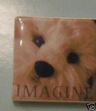 "Gund Refrigerator Magnet #60581, IMAGINE Magnet 2.25"""