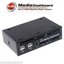MEDIA DASHBOARD PANNELLO MULTIFUNZIONE USB COMPUTER PC LETTORE SCHEDE 5,25