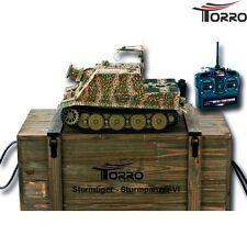 TORRO RC Panzer Tank Sturmtiger 1:16 BB Metallunterwanne Metallketten 2.4 GHz