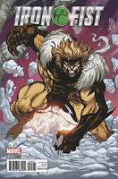 IRON FIST #5 JIM LEE X-MEN TRADING CARD VARIANT MARVEL COMICS SABRETOOTH