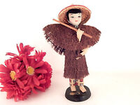 Doll FIgurine Taiwanese Woman Rare VTG 1950s Free China Silk Stockingette Girl