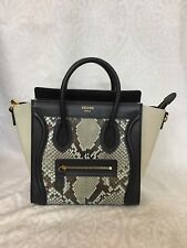 Céline Nano Luggage Bag Blue Black And Brown Snake With Strap