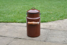Vintage enamel milk churn can milkchurn milk pot with lid  - 3L  - FREE POSTAGE