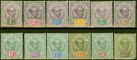 Sarawak 1888-97 set of 12 to 32c SG8-19 Ave - Fine Mtd Mint