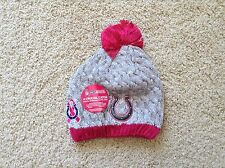 New Era INDIANAPOLIS COLTS Breast Cancer Awareness BCA Women Knit Beanie Hat