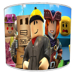 Roblox Children`s Lampshades, Ideal To Match Roblox Bedding, Roblox Wall Decals