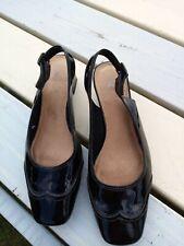 Black Patent Slingback Shoes K Clarks