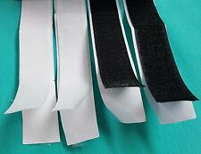 1,34-3,70 €/m Selbstklebend Klettband 1.5,10 M 20,25 mm breit  weiß, schwarz