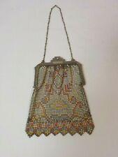 "Whiting & Davis Silver Art Deco 6"" Mesh Handbag, c. 1920's"