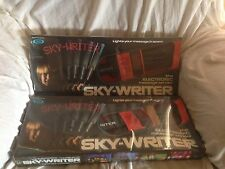 SKY-WRITER ELECTRONIC LIGHT UP MESSAGE SENDER, VINTAGE CLASSIC TOY IN SPACE X 2