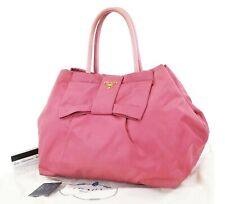 Authentic PRADA Pink Nylon Tote Hand Bag Purse #37083