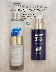 PHYTO PARIS HUILE SOYEUSE HYDRATING OIL & SECRET DE NUIT NIGHT TREATMENT SET