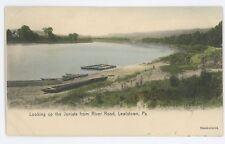 Juniata from River Road LEWISTOWN PA Vtg Mifflin County Pennsylvania Postcard