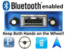 Bluetooth Enabled 67-72 Chevy Truck 300 watt AM FM Stereo Radio iPod, USB inputs