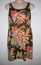 NEW WITH TAG! TALBOTS, Size 16, Floral Dress MSRP $138 - Brown Multi Color