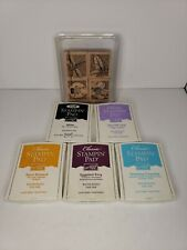 STAMPIN UP Perfect Petals Wooden Stamp Set  2003 retired and 5 ink pads